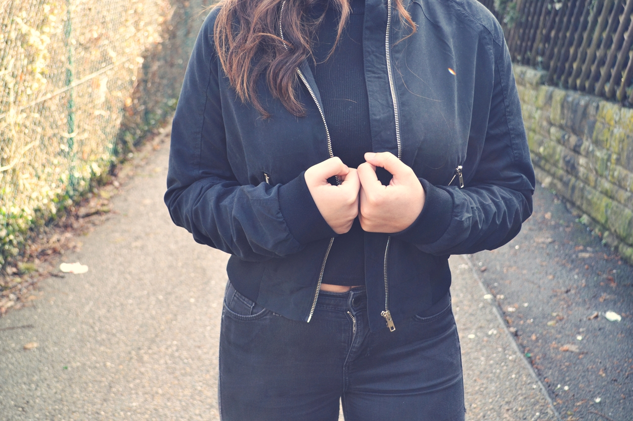all black outfit topshop jeans