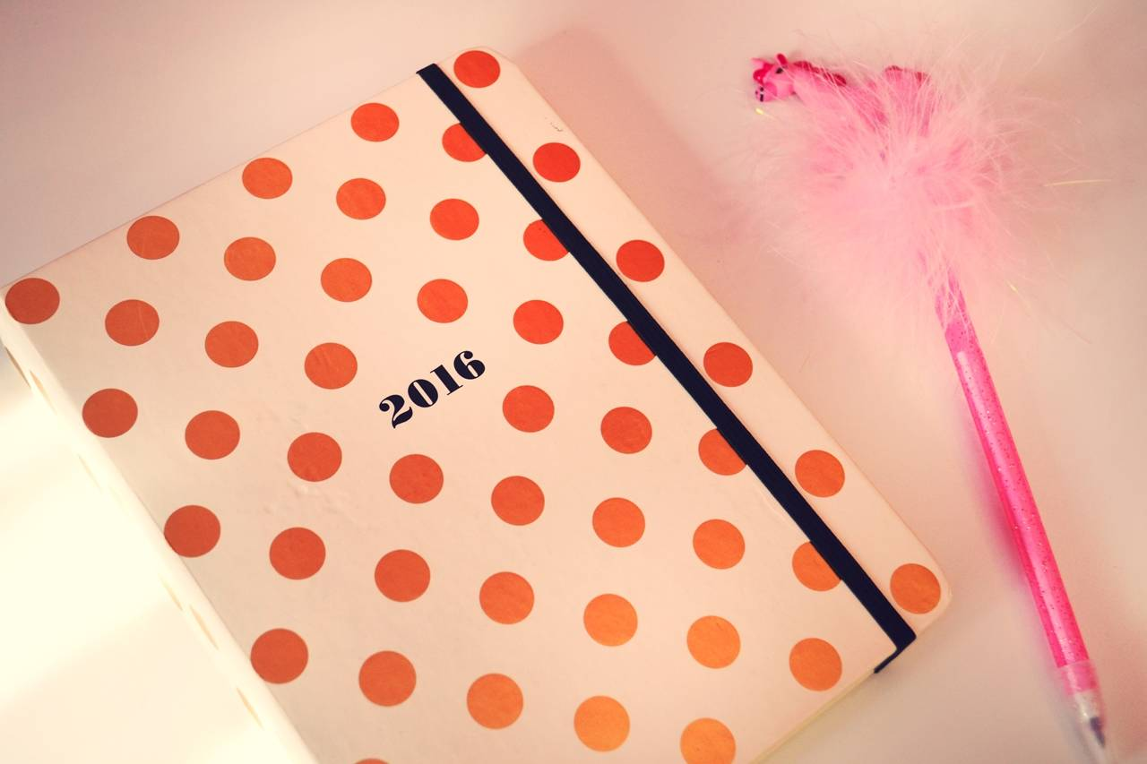 kate spade planner gold